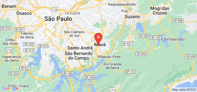 map of Mauá, Brazil